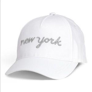 NWT H&M New York white baseball cap girls sz 8-12y